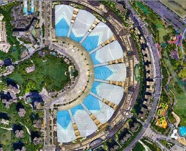 新世纪国际会展中心正射影像航拍